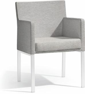 Liner chair - white - lotus smokey
