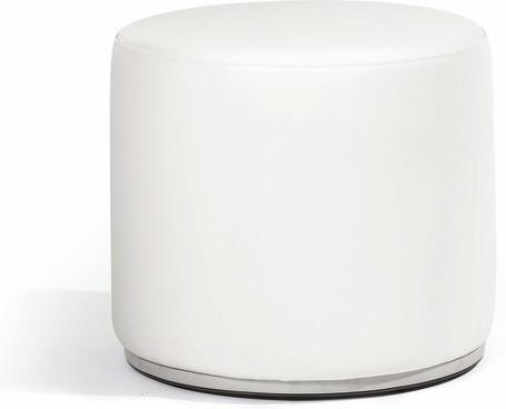 footstool/sidetable 52 nautic leather white