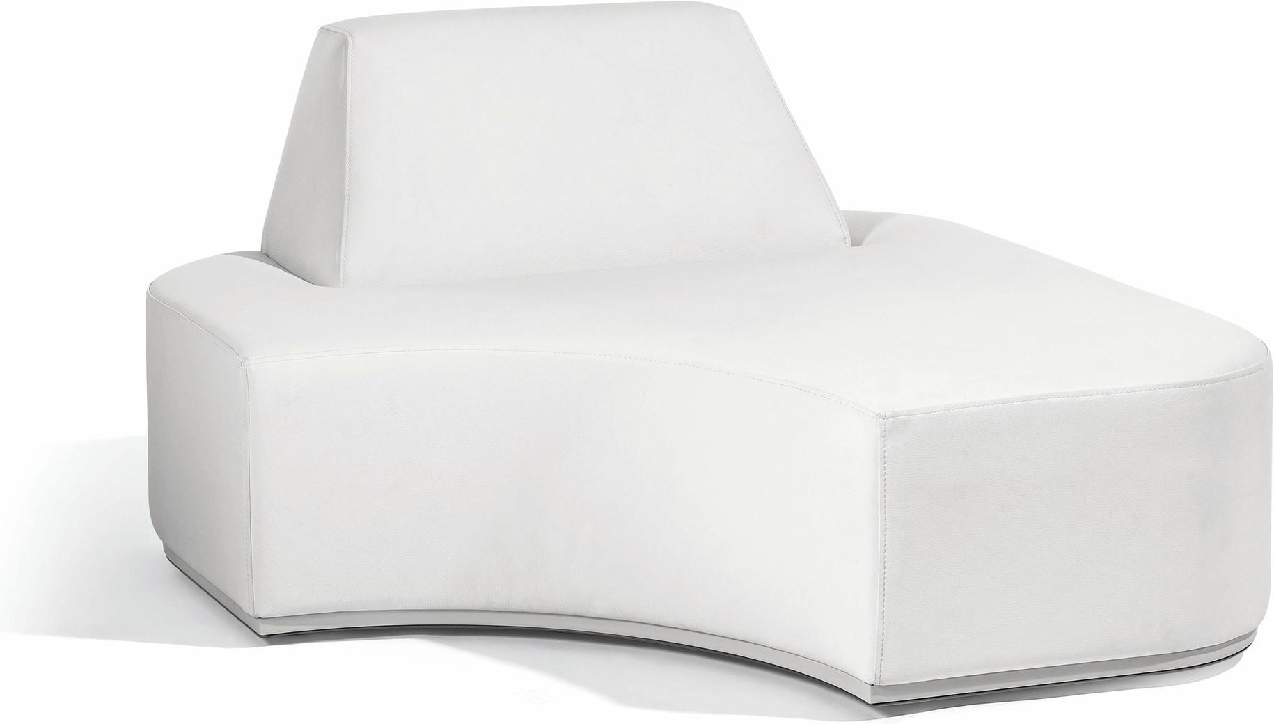 Moon Island left corner seat nautic leather white