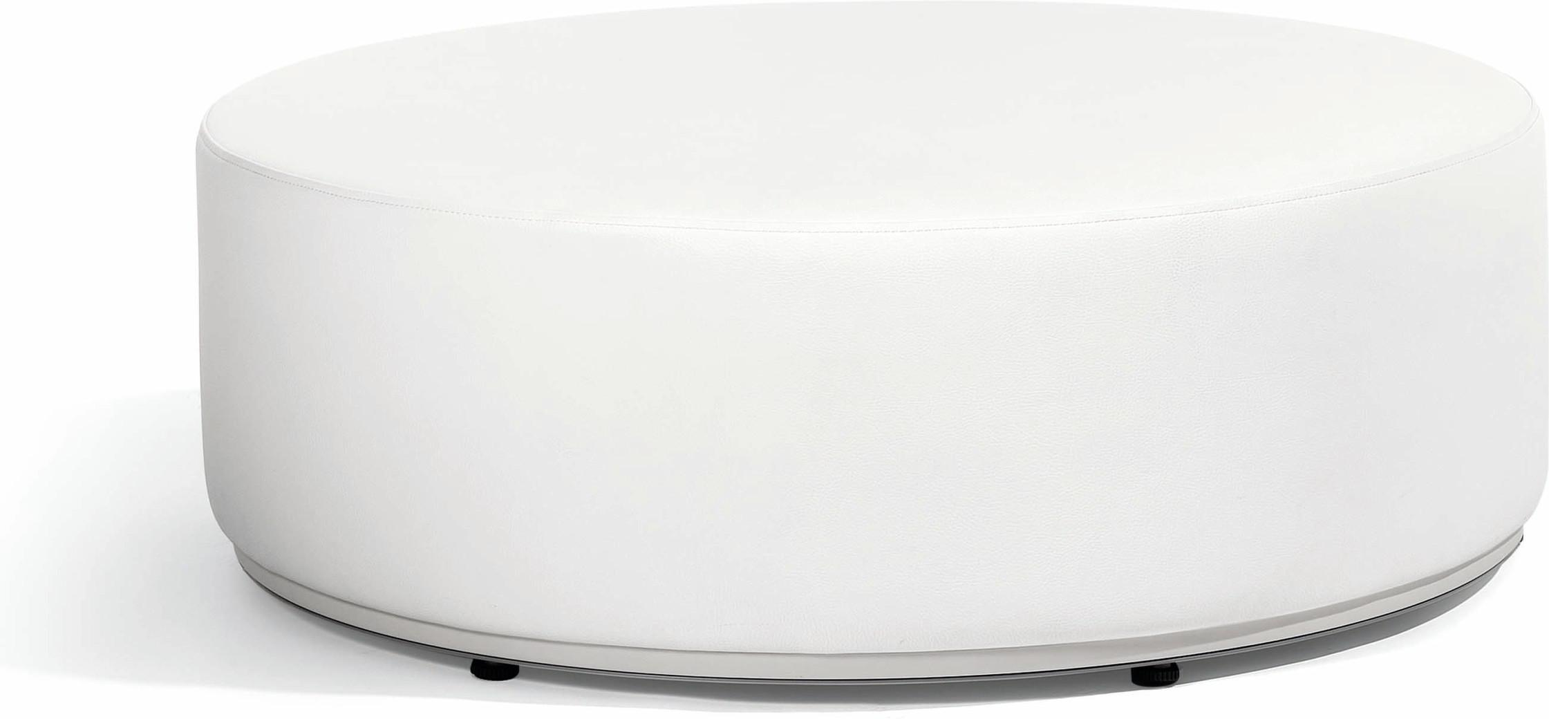 Moon Island Lounge-Tisch/Fußhocker 104 nautic leather white