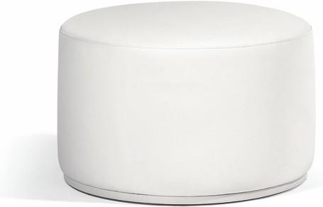 footstool/sidetable 63 nautic leather white