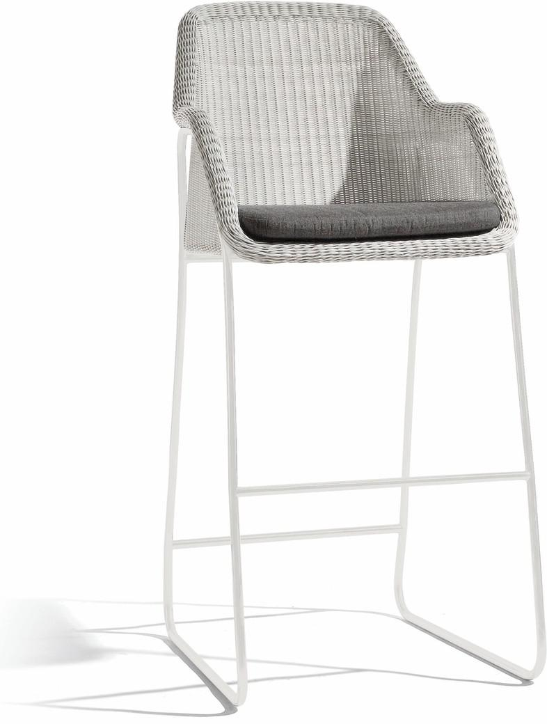 Mood barstool - white - cord 2mm off white