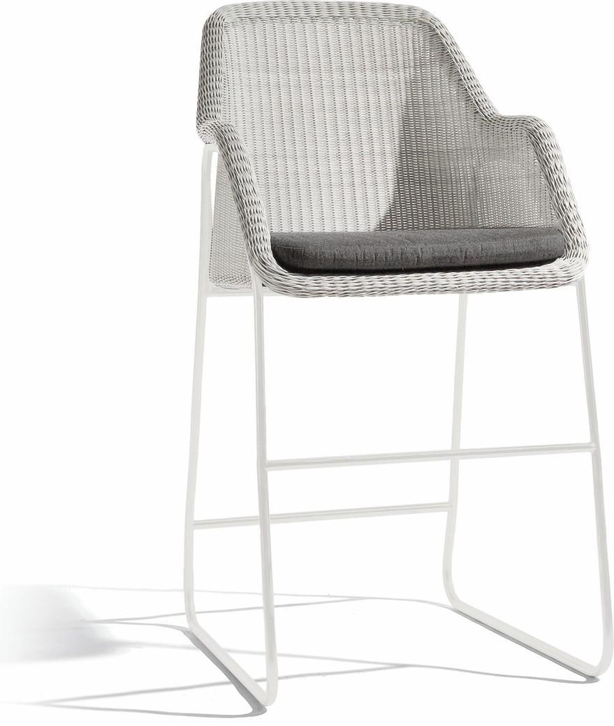 Mood Barhocker 60 - weiß - Korbgeflecht 2mm - off-white