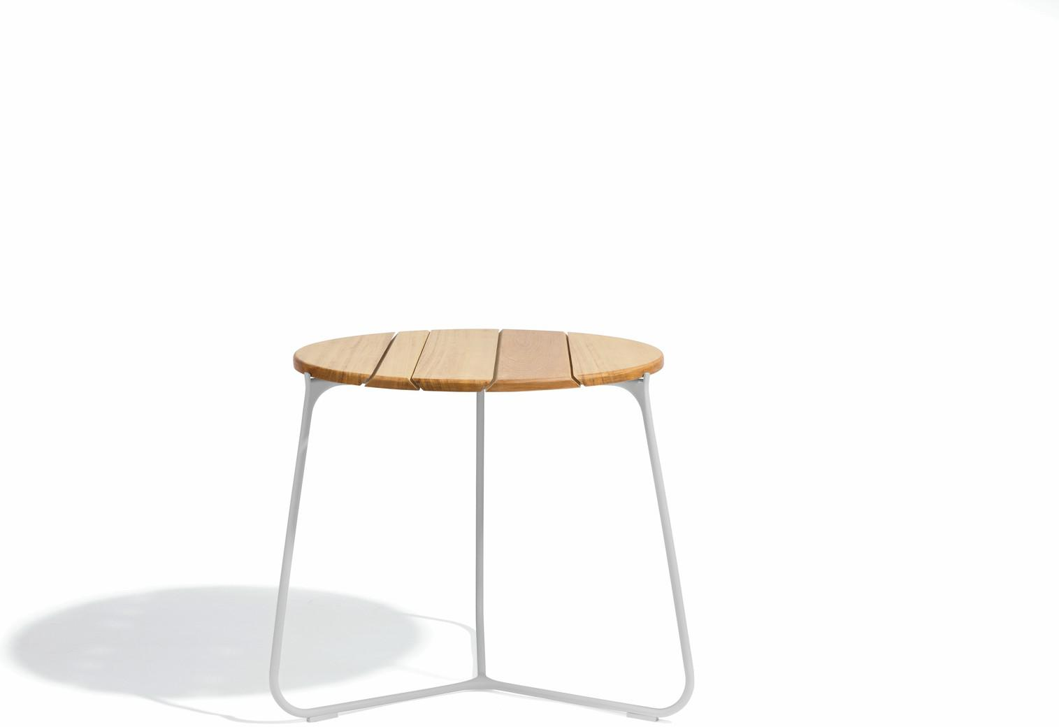 Table basse Mood - silex - iroko 60