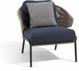 Radius 1S - Lounge chair - lava - bronze