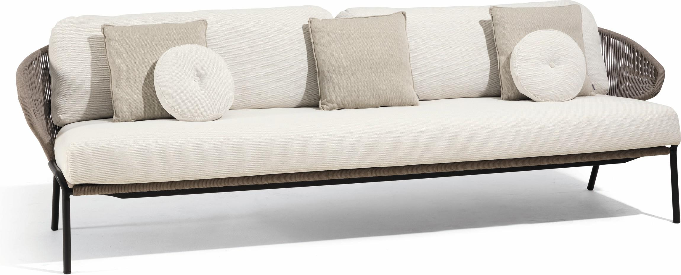 Radius 3S - Sofa fixed - lava - bronze