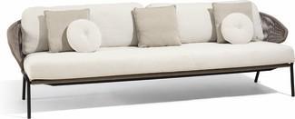 Radius 3S - Sofa fixed - lava - bronze