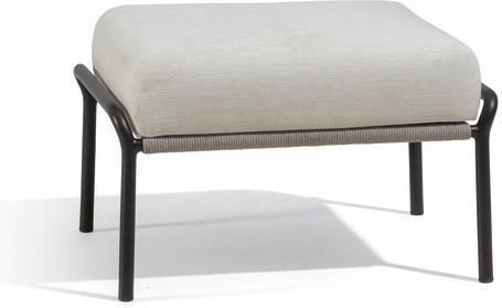 Footstool - lava - silver