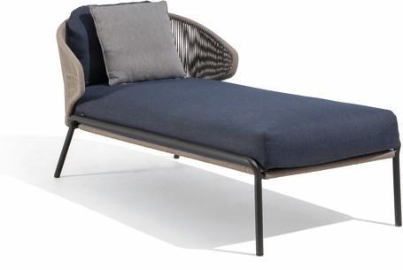 Chaise longue - lava - bronze