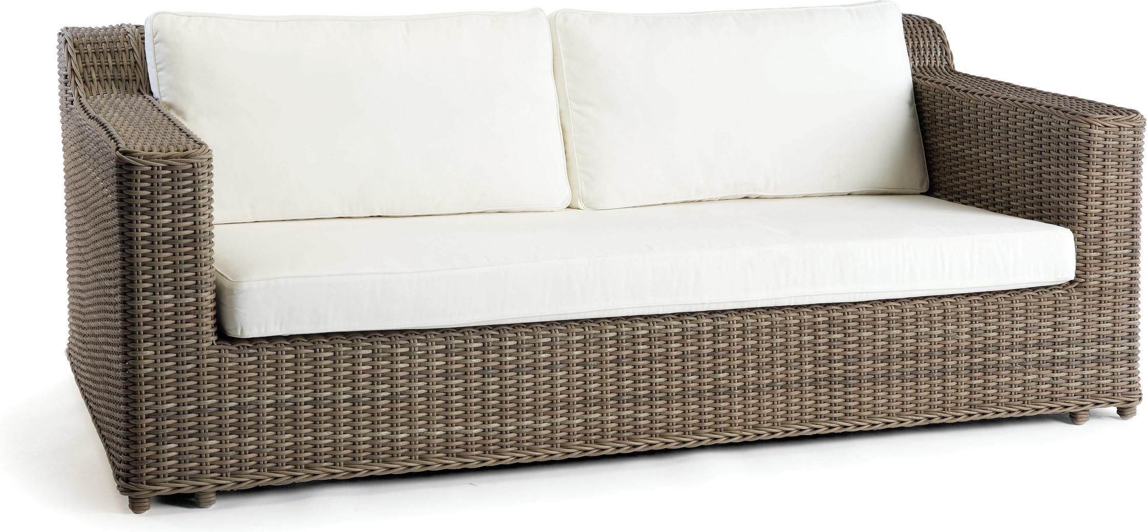 San Diego 2,5-Sitzer - Einzelsofa - Korbgeflecht 8mm altgrau