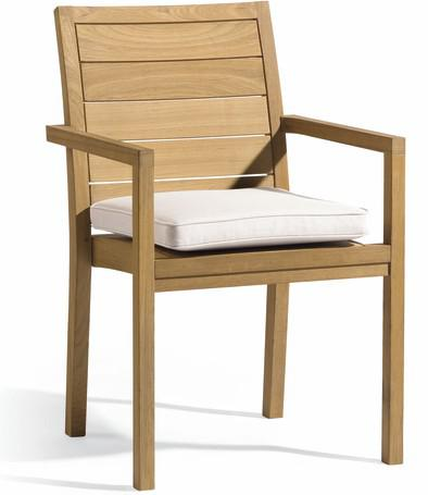 teak square armchair