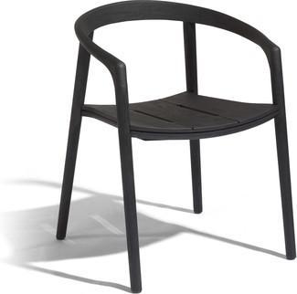 Fauteuil Solid - teck noir