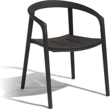 armchair - teak nero