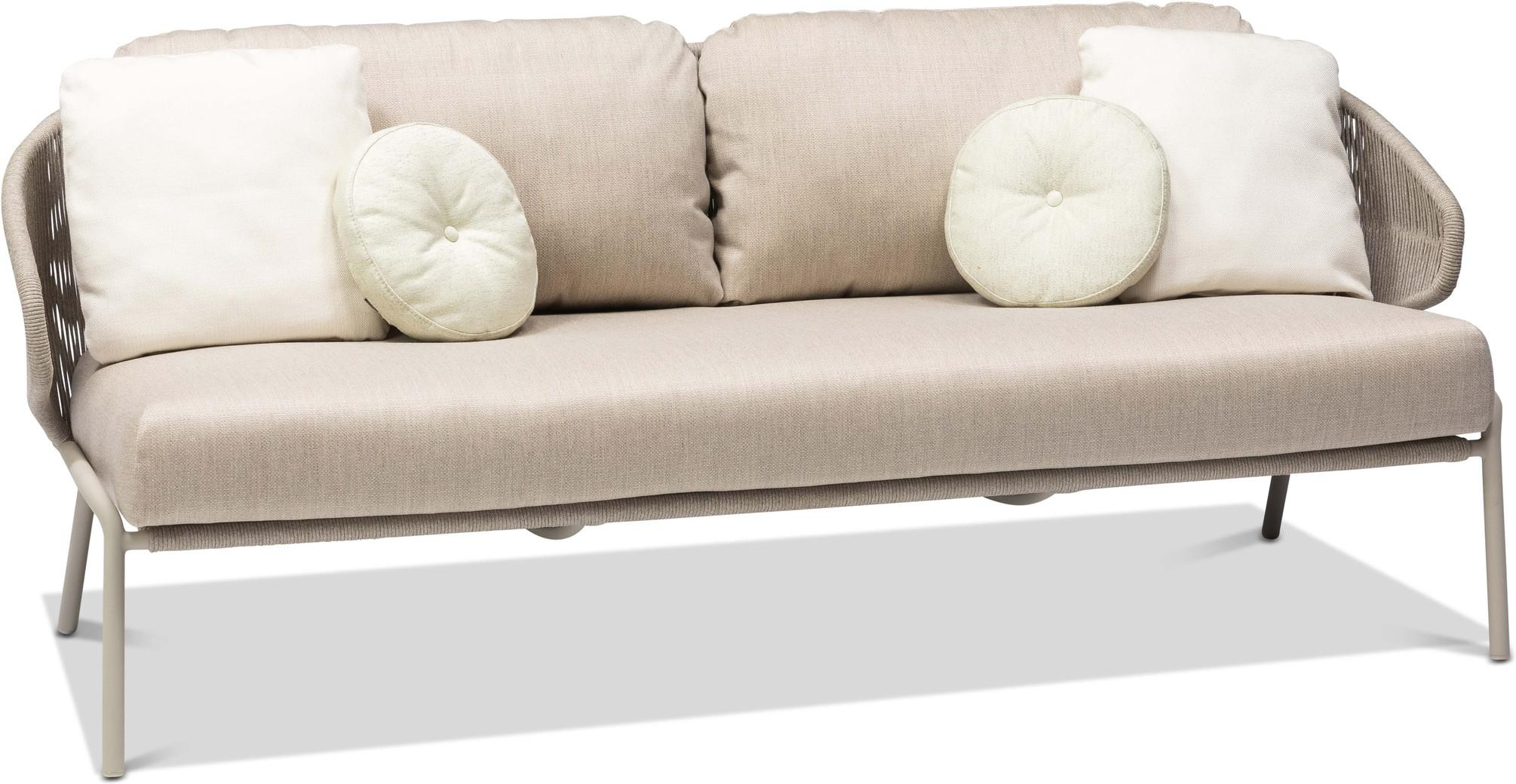 Radius 2,5 seater - Sofa fixed - flint - pepper
