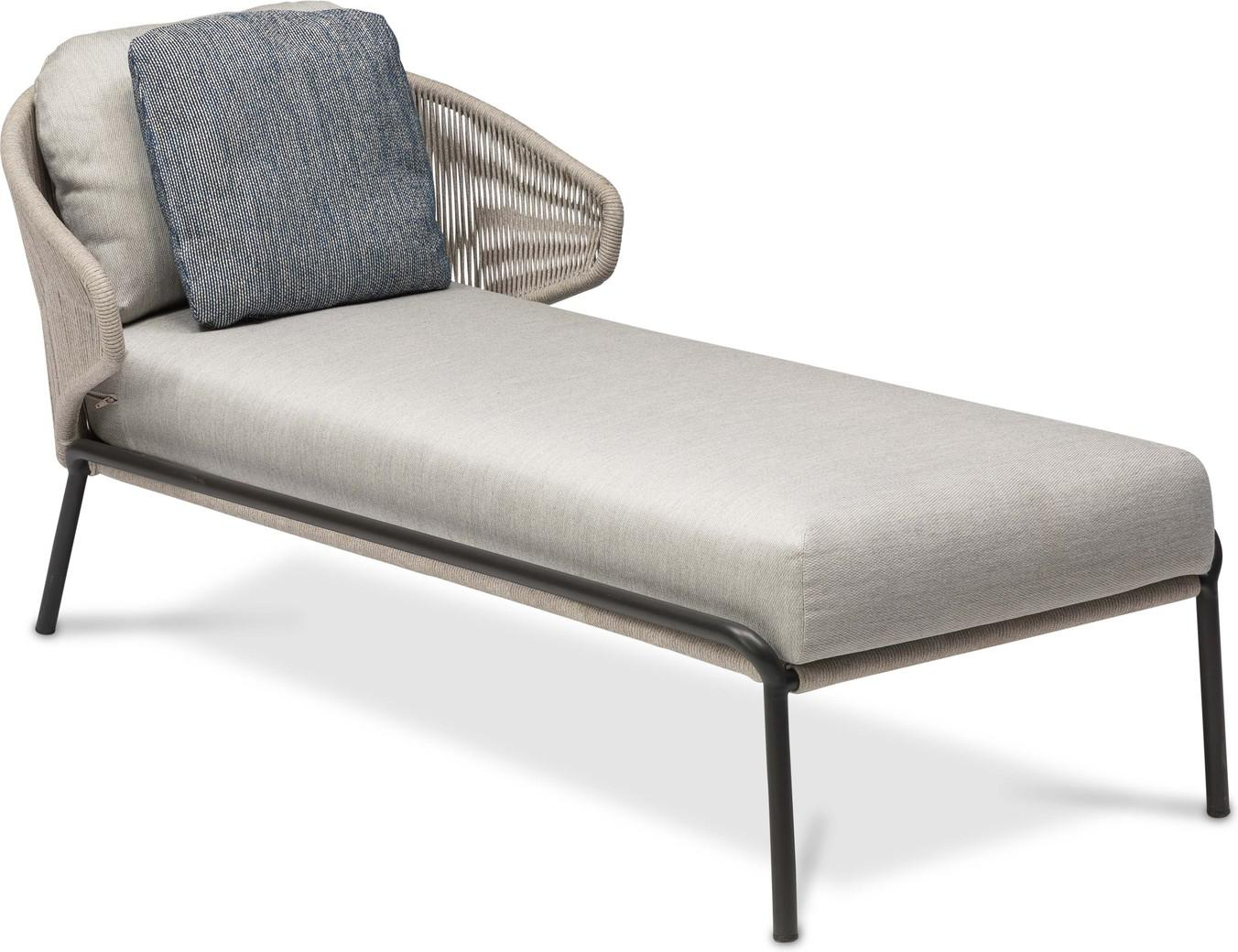 Radius Chaise longue - lava - silver