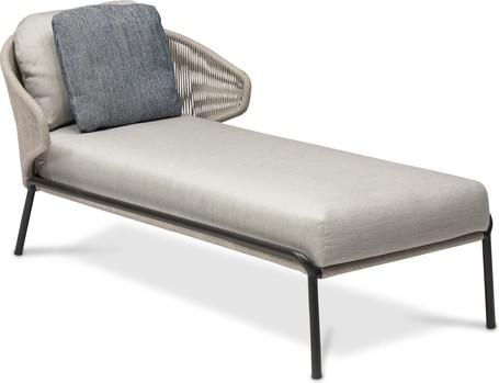 Chaise longue - lava - silver