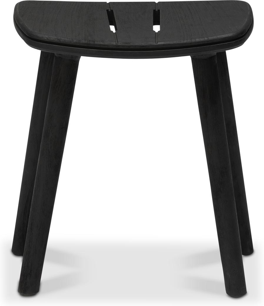 Solid Stool 47  - Teak Nero