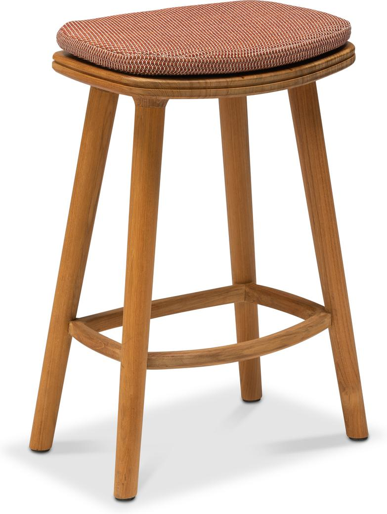 Solid counter Stool 61 - Teak