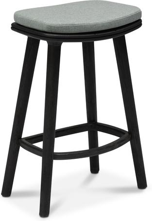 counter Stool 61 - Teak Nero