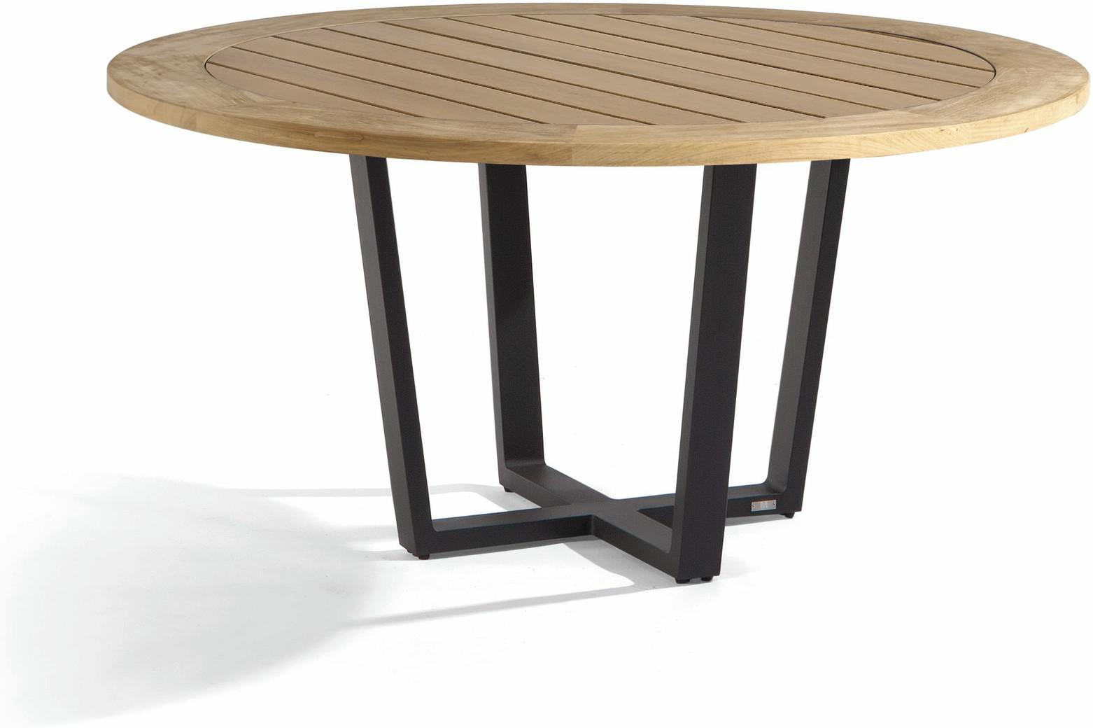 Fuse Dining table - lava - Teak 155