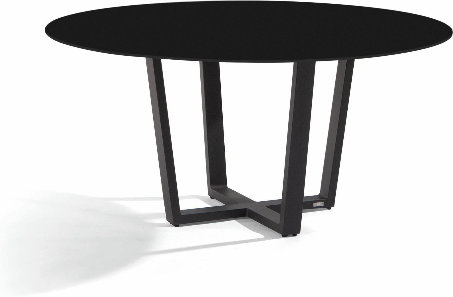 Fuse Dining table - lava - black 155