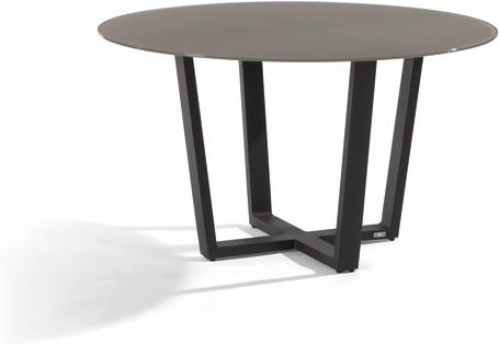 Dining table - lava - glass taupe 130