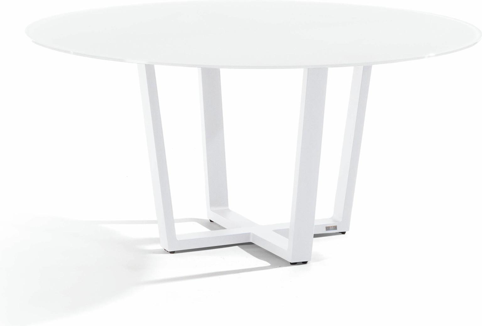 Fuse Dining table - white - glass white 155