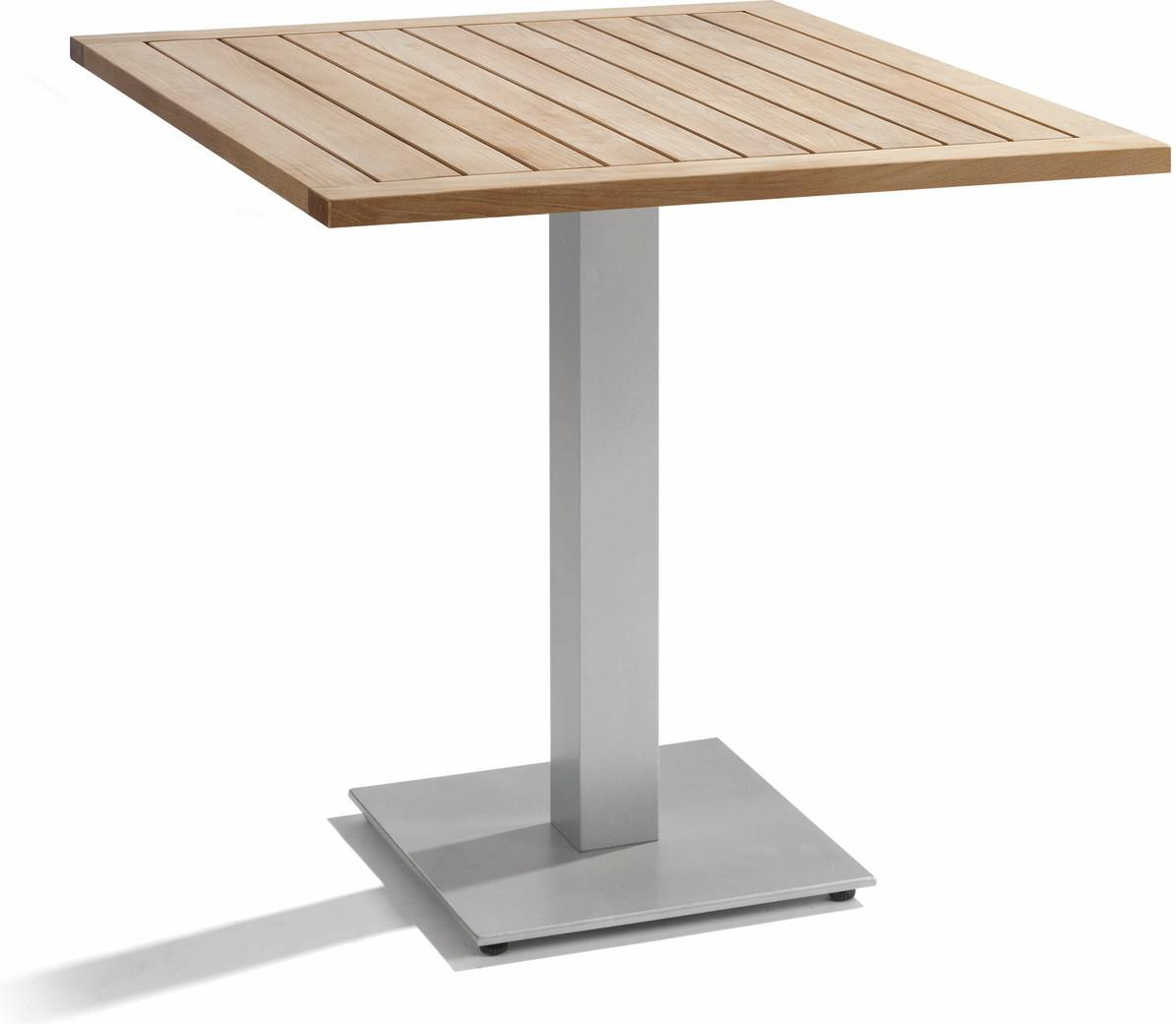 Napoli Bistro table - shingle - Teak 75