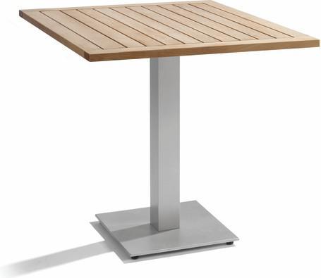 Table de bistro - galet - Teck 75