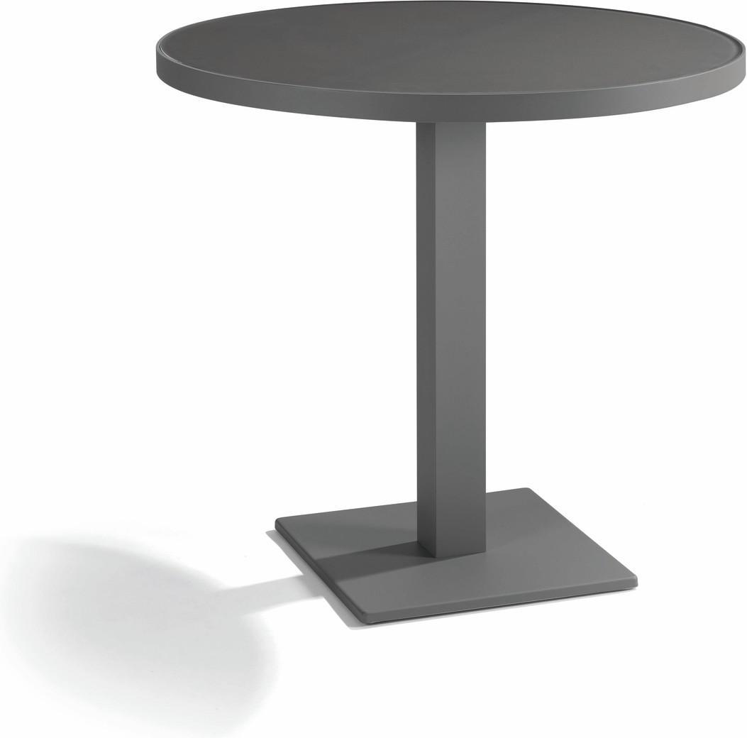 Napoli Bistro table - lava - black 80