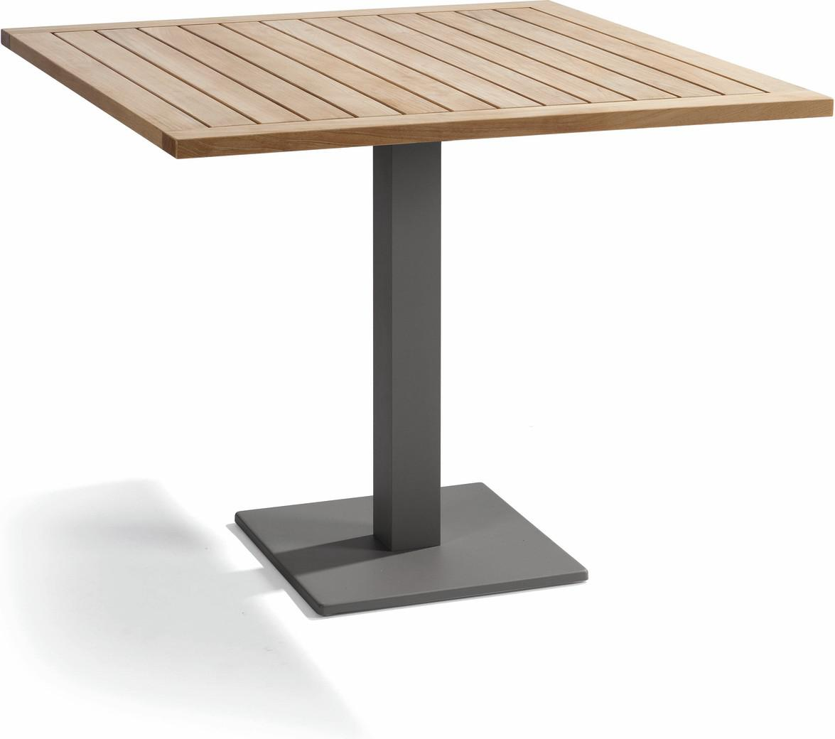 Napoli Bistro table - lava - Teak 100