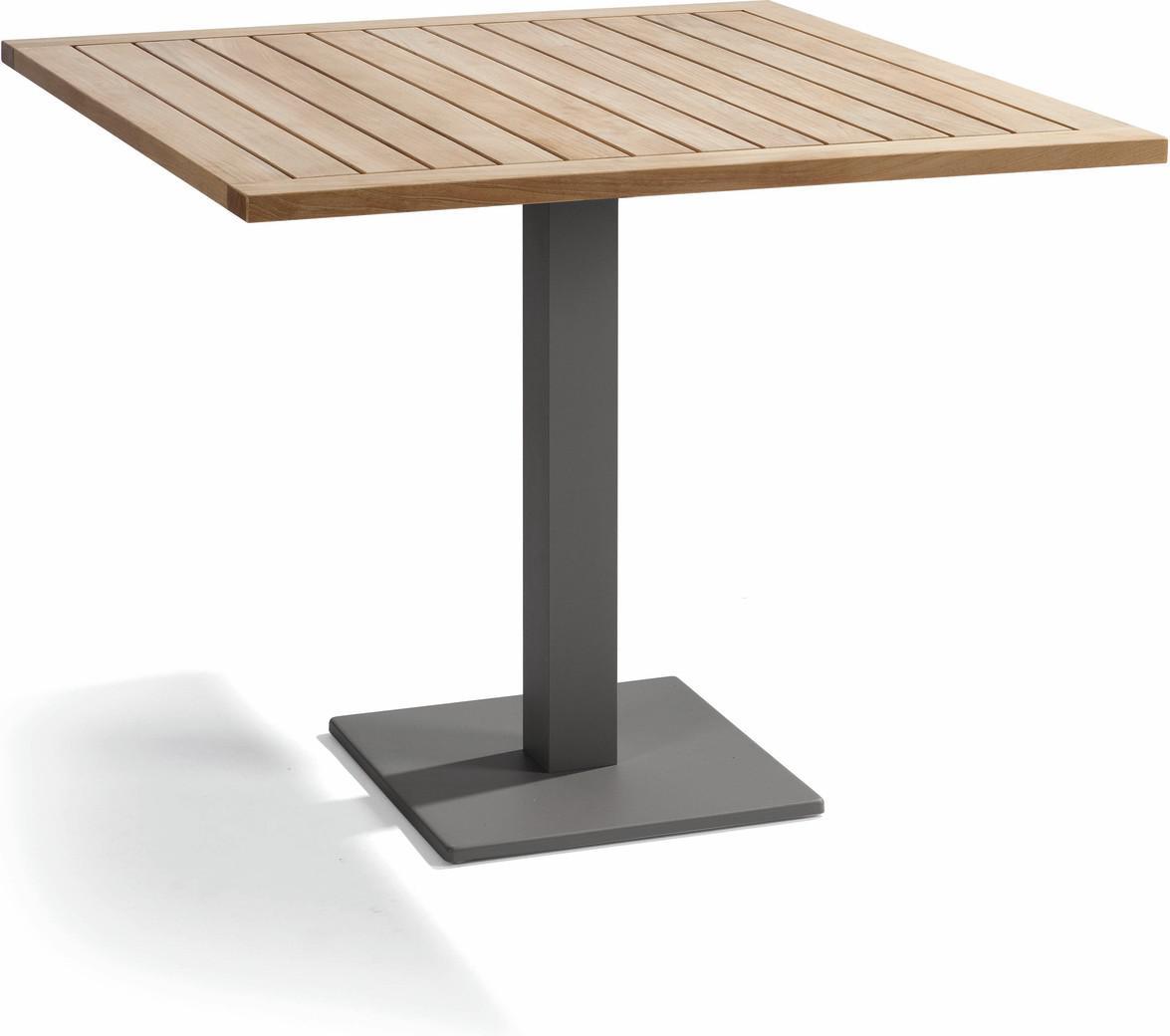 Napoli Bistro table - lava - Teak 90