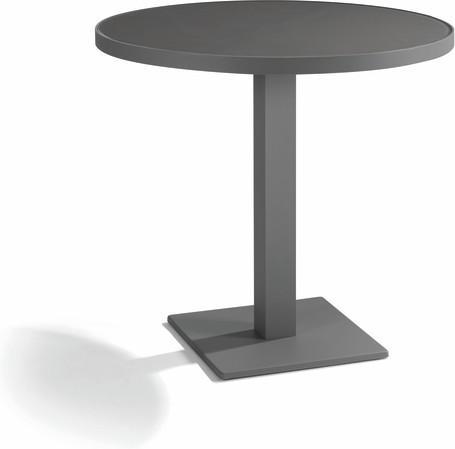 Table de bistro - lave - noir 80