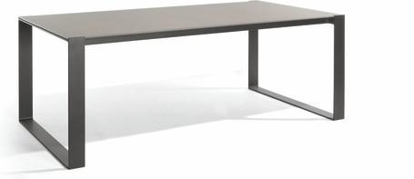 Dining table - lava - glass taupe 212,5