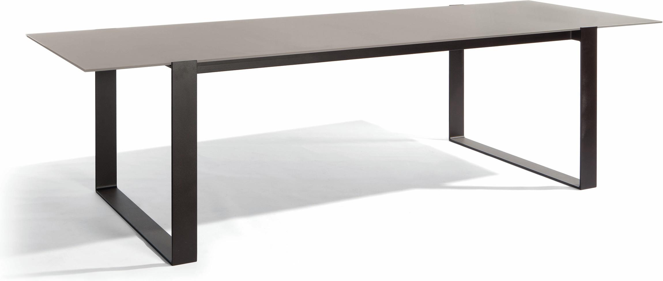 Prato Dining table - lava - glass taupe 270
