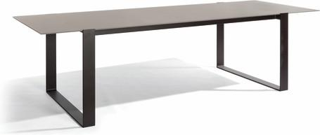 Dining table - lava - glass taupe 270