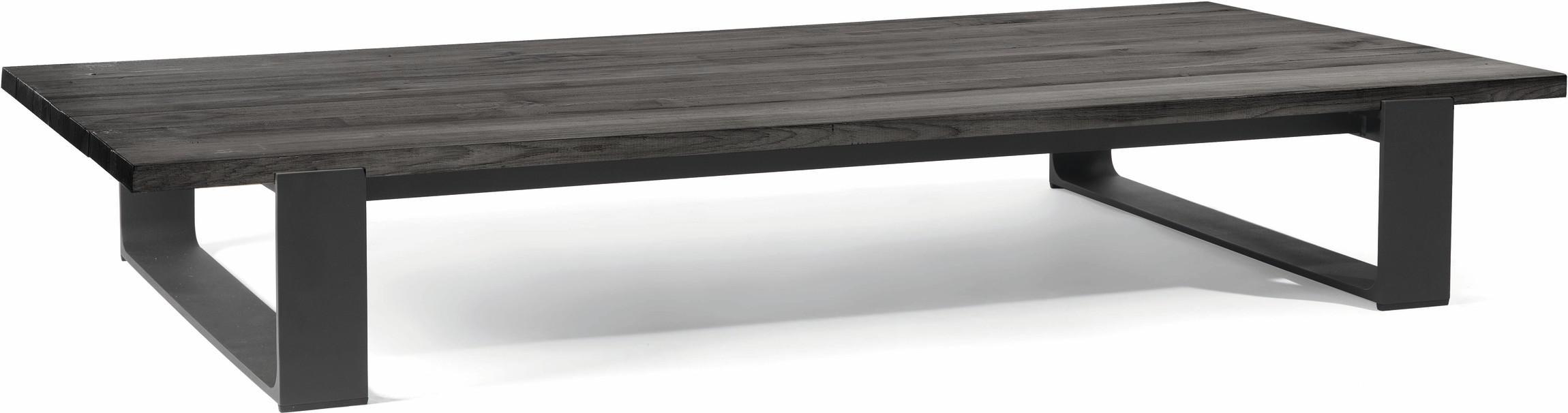 Table basse Prato - lave - Teck nero 180