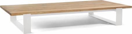 Tavolino da caffè - bianco - teak 180