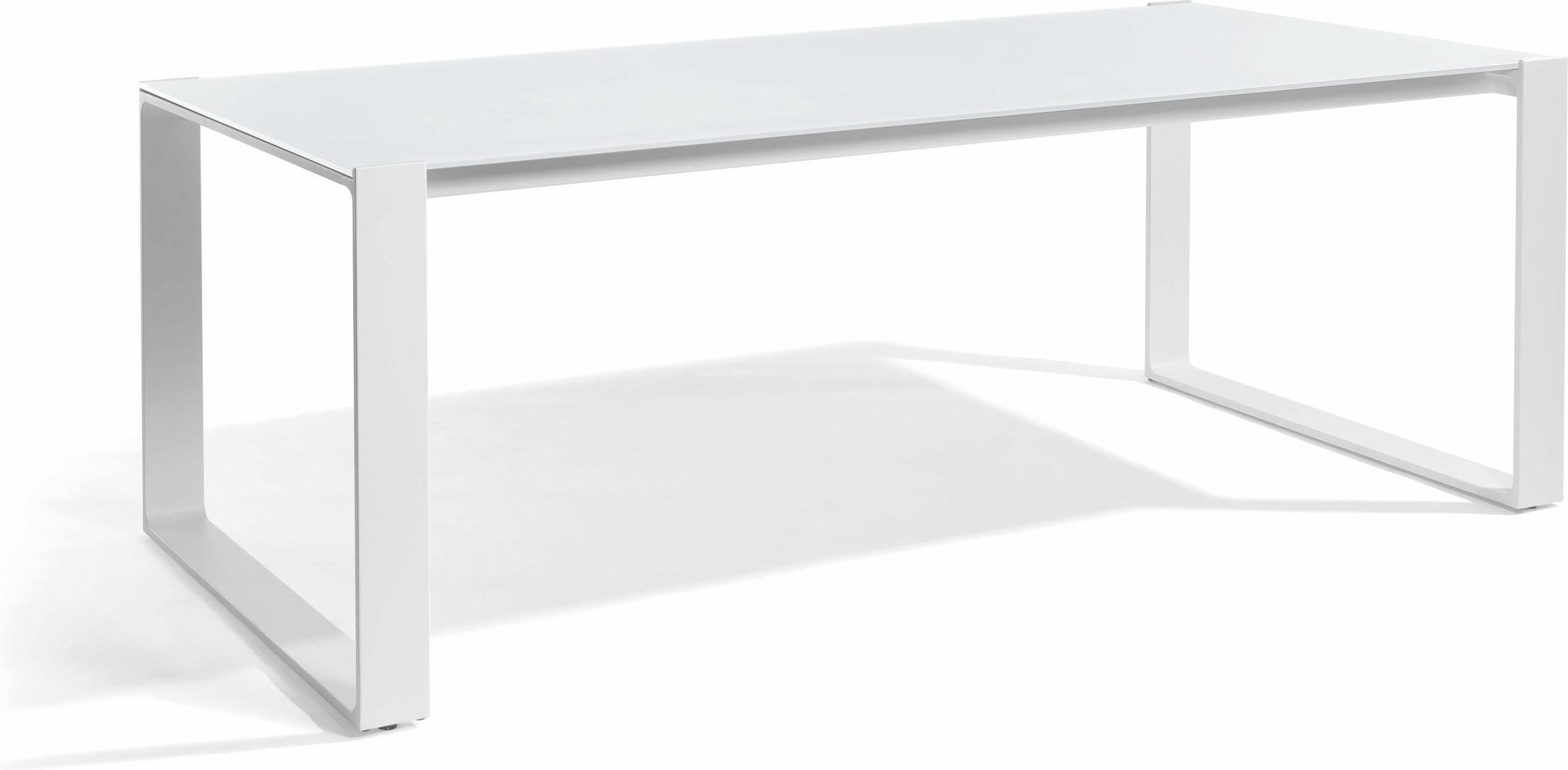 Prato Dining table - white - glass white 215