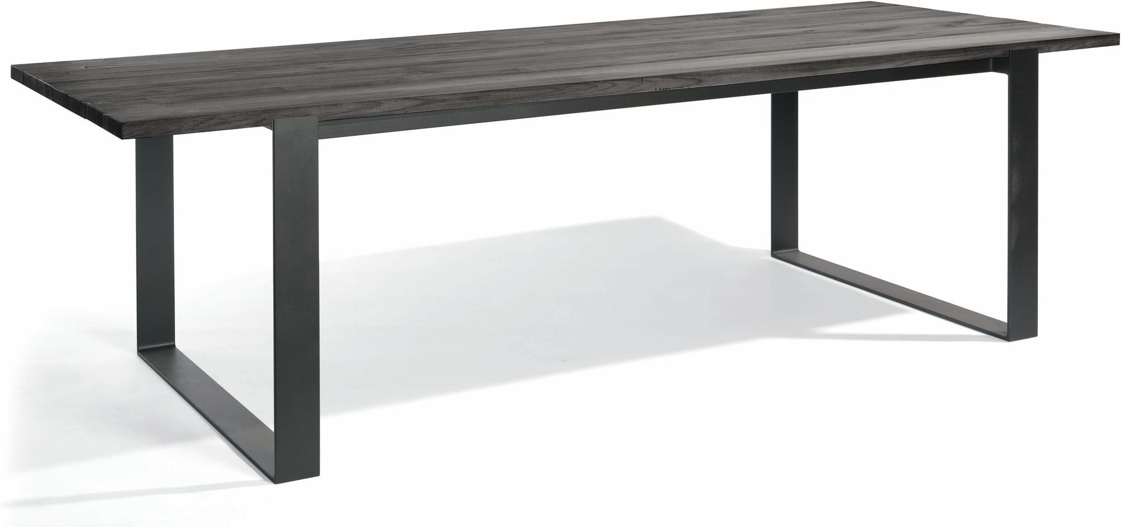 Eettafel Prato - lava - Teak nero 270
