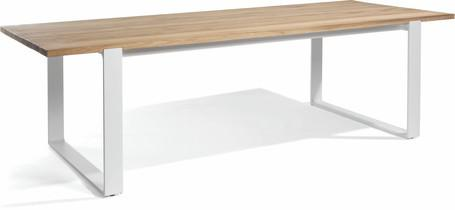 Tavolo da pranzo - bianco - teak 270