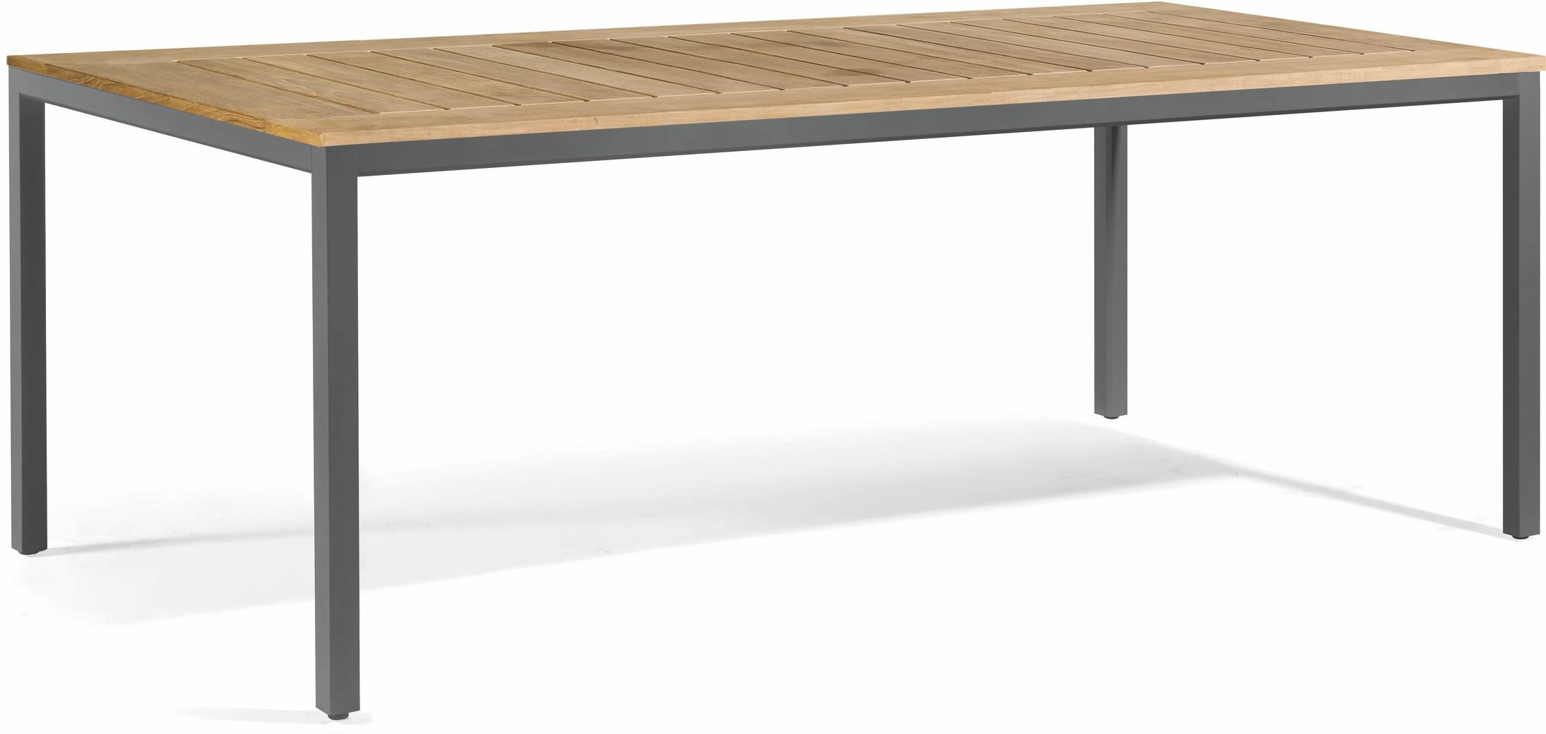 Quarto Dining table - lava - Teak 215