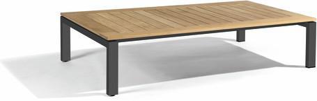 Coffee table - teak slates in frame 150