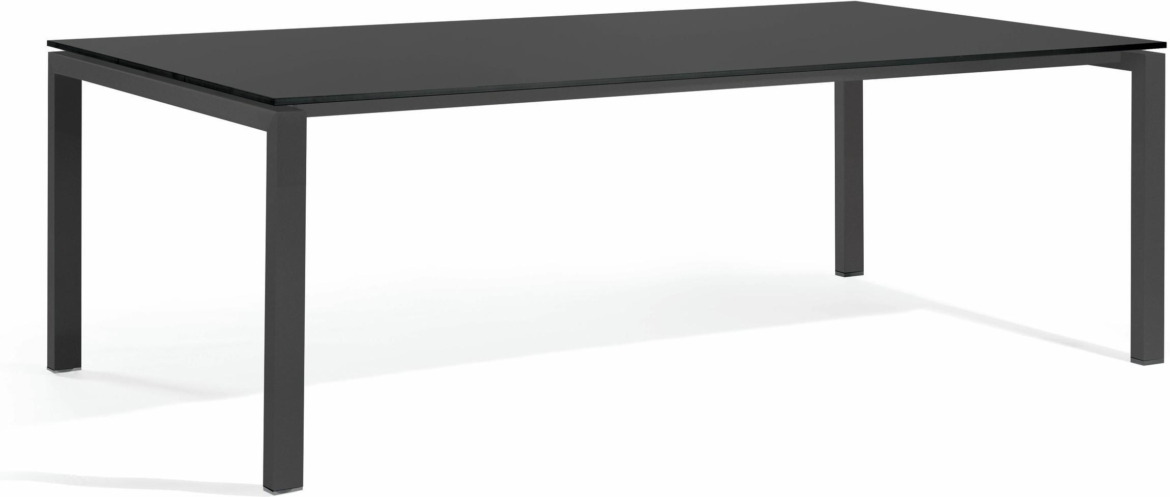 Trento Mesa de comedor - cristal negro GLB 270