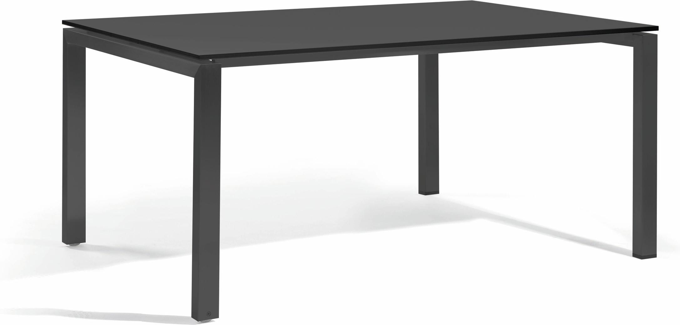 Trento Dining table - glass black GLB 150