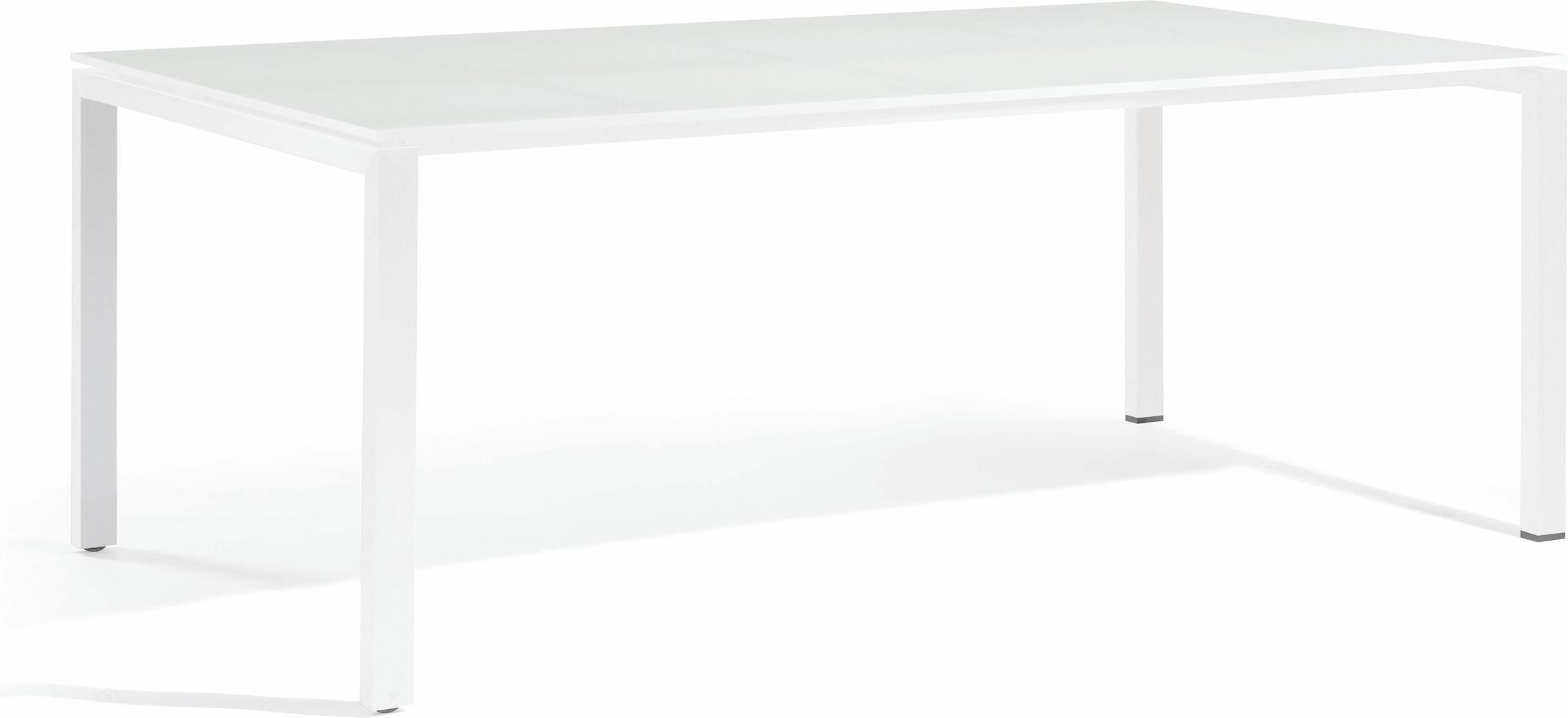 Table à manger Trento - verre blanc 270