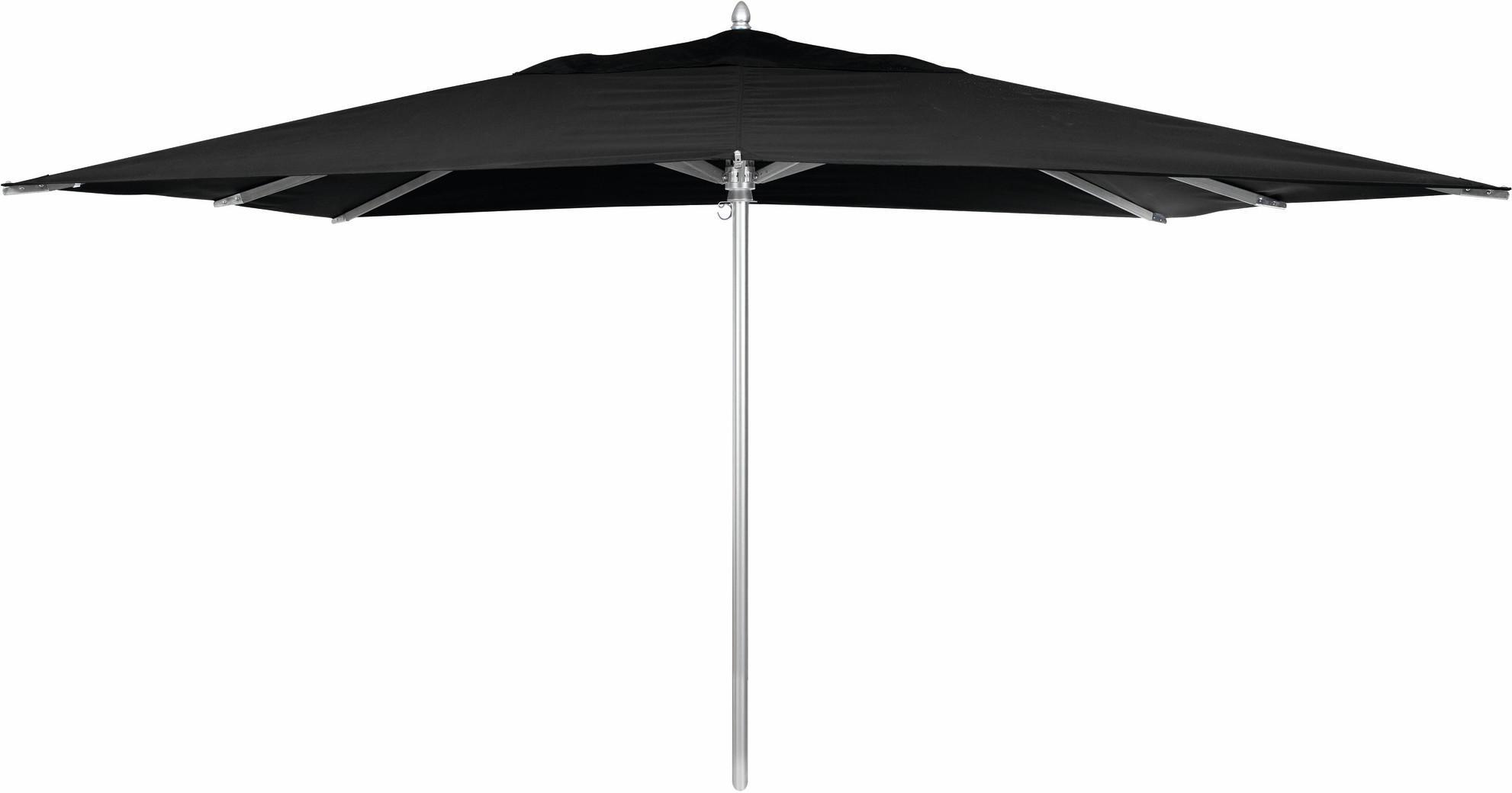 Sonnenschirm - Aluminium - 300x400 - schwarz