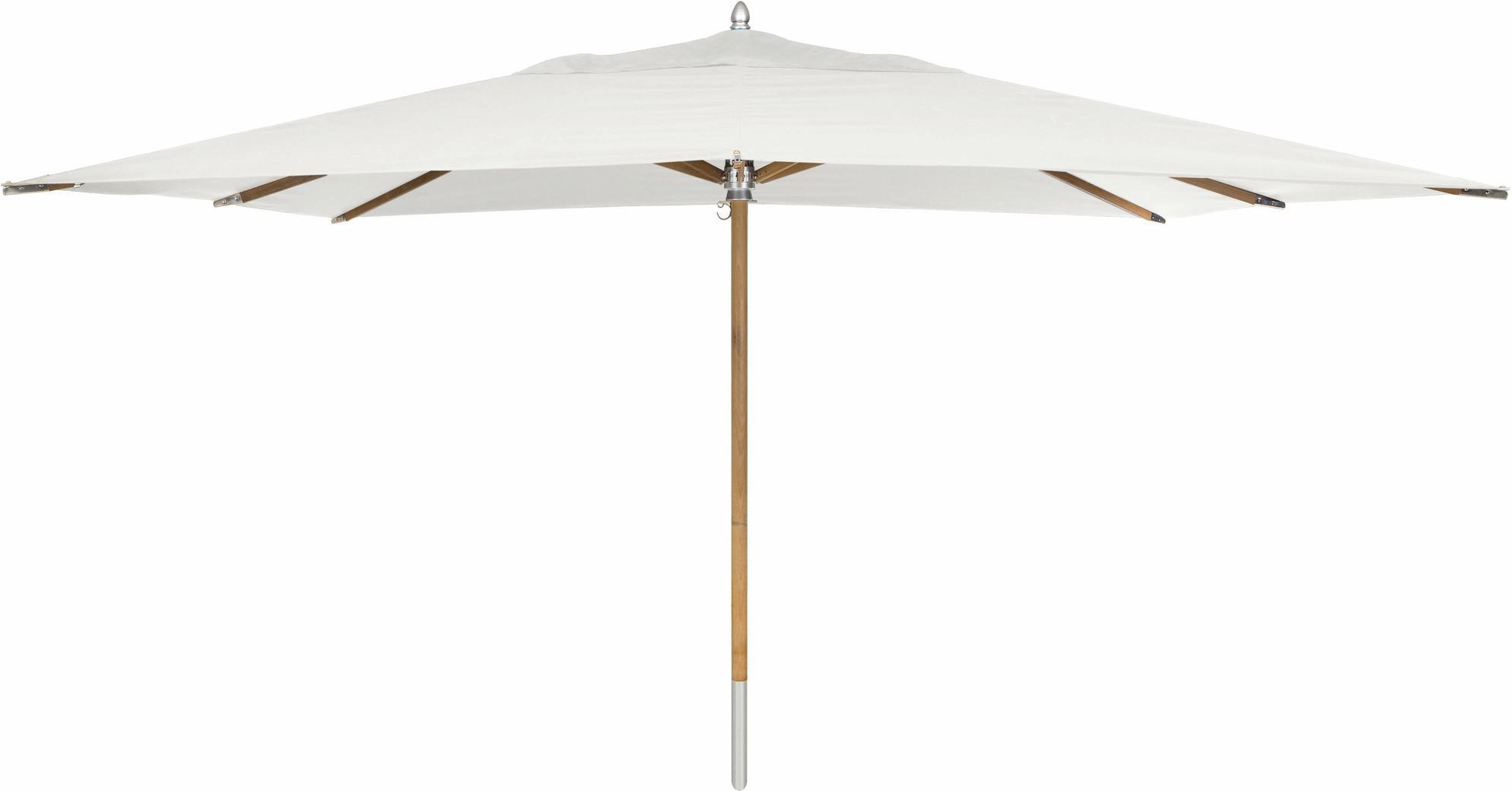 Umbrella central pole teak 300x400 canvas