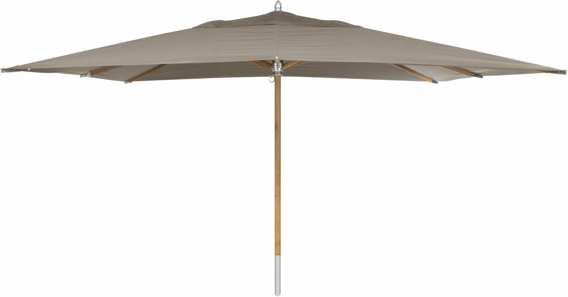 Umbrella central pole teak 300*400 taupe