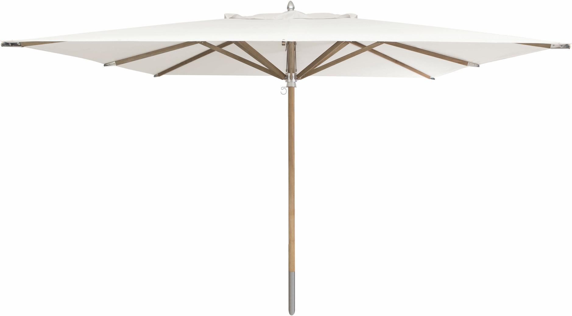 Umbrella central pole teak 350*350 canvas